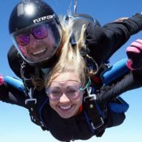 Tandem Skydiving - enjoying free fall