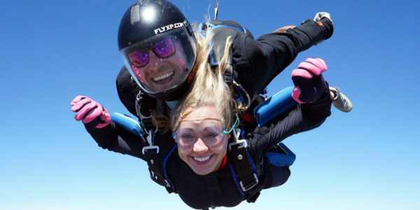 Tandem Skydiving - enjoying free fall