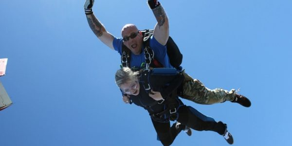 first-time tandem skydiving experience