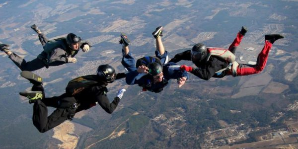 AFF student trains at Skydive Paraclete XP