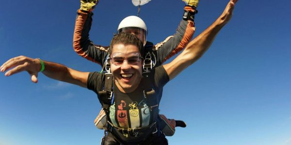 man makes first tandem skydive in NC