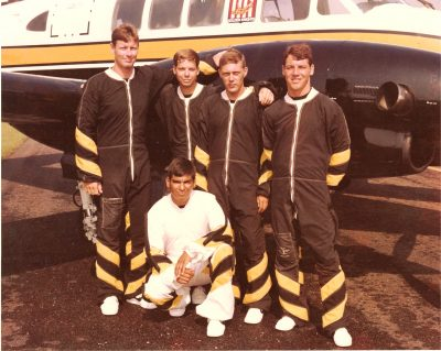 Tim with skydiving team