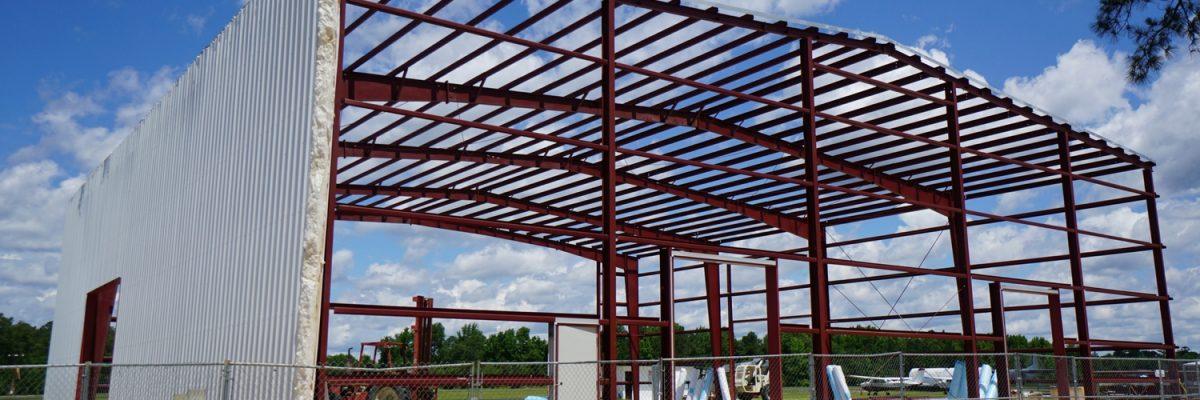 new hangar under construction at Skydive Paraclete XP