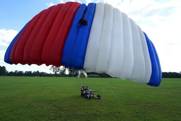 A parachute after landing.