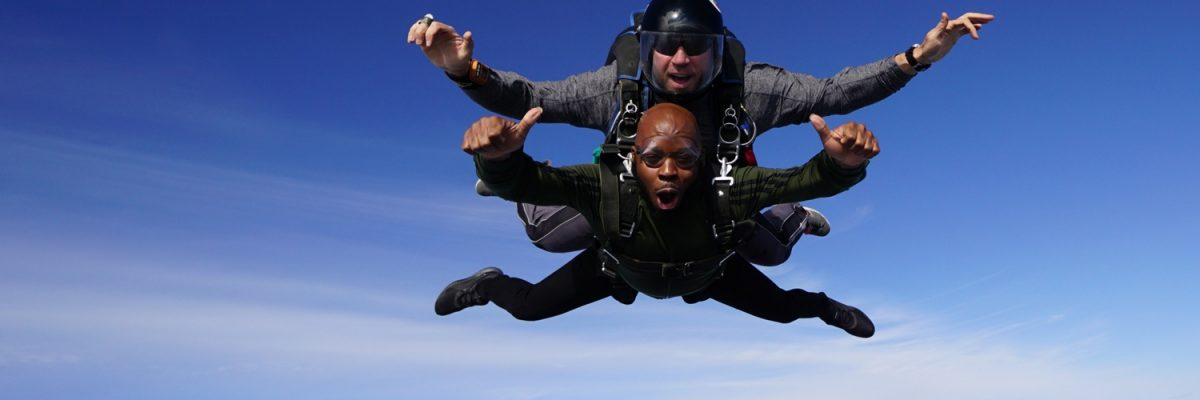 student experiences life changing first skydive