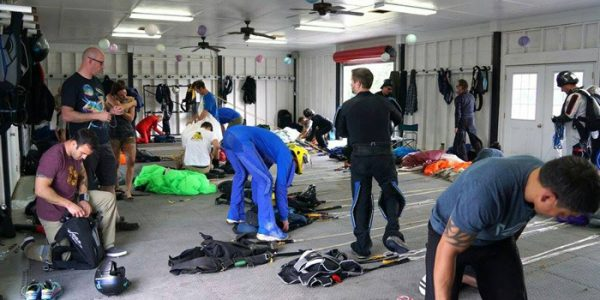 Ground school during skydiving certification