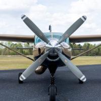 Cessna Caravan 208 with a four blade prop