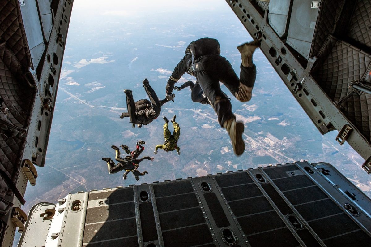 jumping out of plane