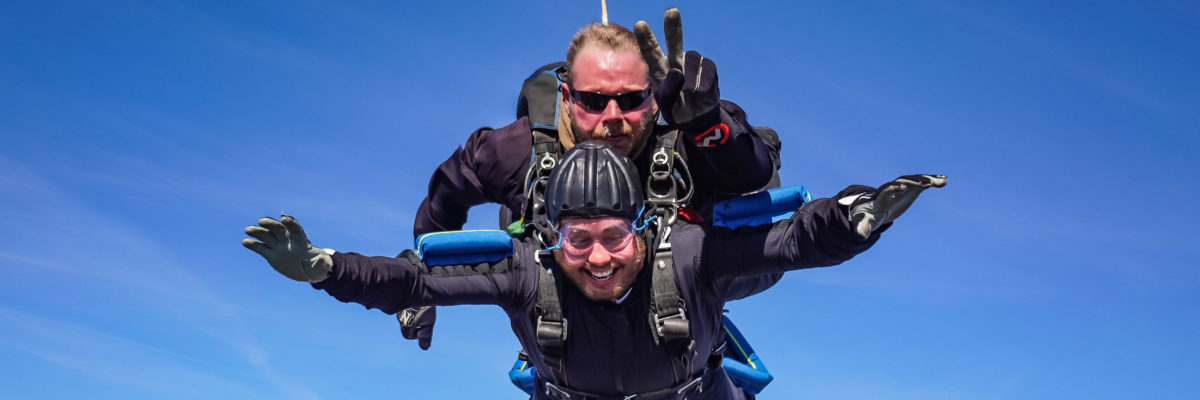 skydiving while sick