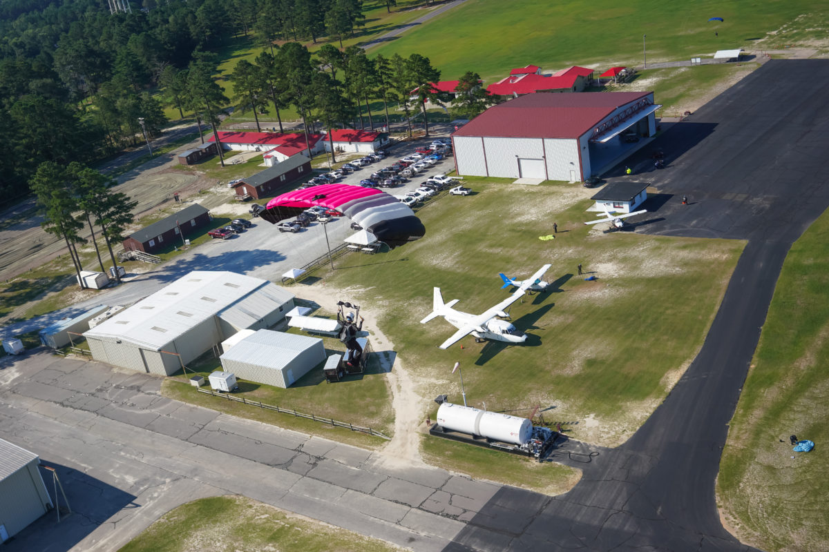 A view of Skydive Paraclete XP's dropzone.