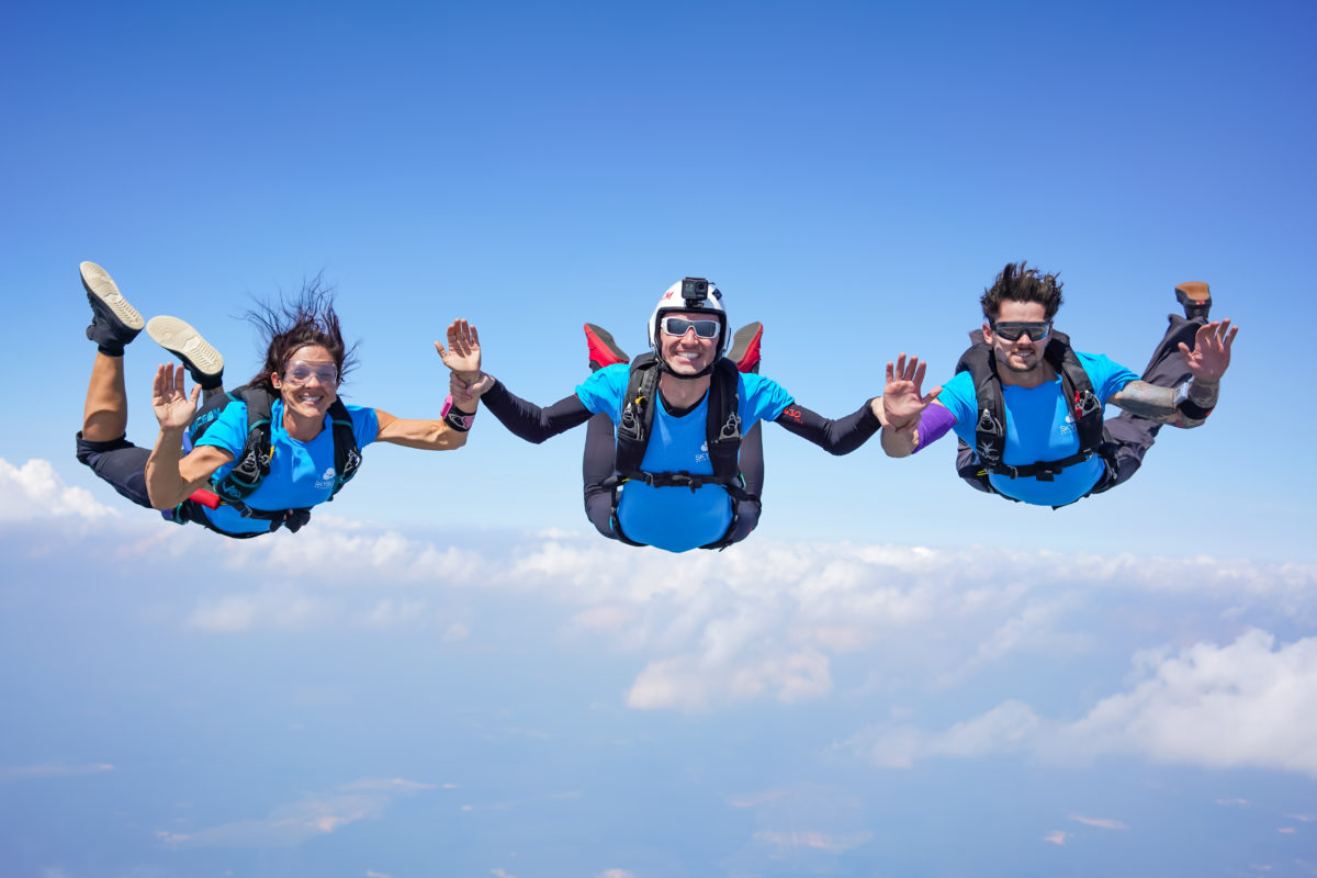 skydiving and muscles