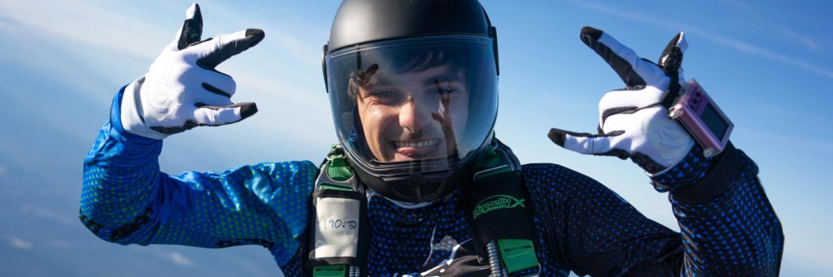 Anthony Armendariz, who went through the student program at Skydive Paraclete XP.